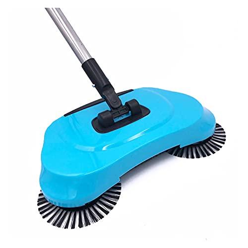 Escobas eléctricas Acero inoxidable empuje equipo de barrido tipo de la mano de empuje Escoba mágica recogedor maneta Conjunto de limpieza de la mano de empuje Sweeper la fregona Utensilios de limpiez
