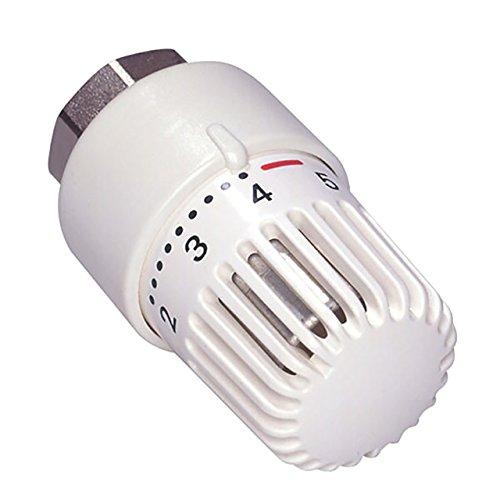 Thermostatkopf M30x1,5 weiß mit Nullstellung