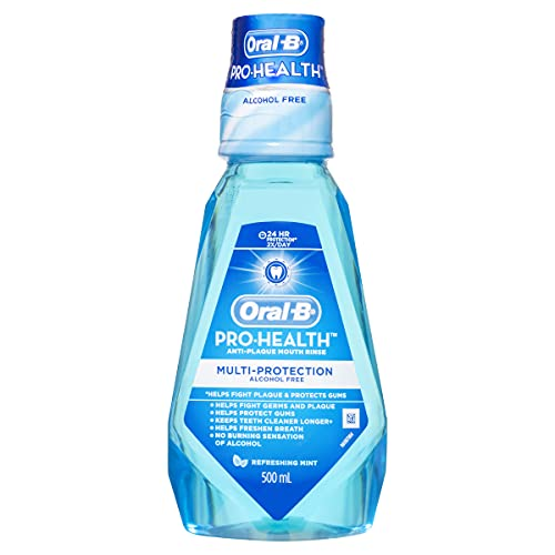 Oral-B Pro Health Multi Protection Anti Plaque Mouthwash, Refreshing Mint, 500 mL