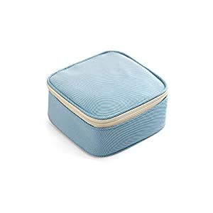Maruis Soft Women Sanitary Napkin Storage Bag Cosmetic Change Headset Data Cable Polyester Square Storage Box