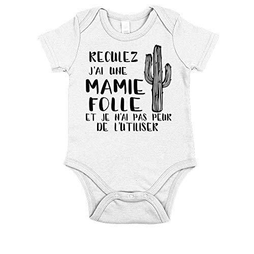 Body Bébé Mamie - Blanc - 0-3 Mois
