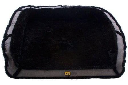 K9 Ballistics Orthopedic LUX Bolster Bed Cream Fur/Khaki Tan Micro - Small (18' x 24' x 5')