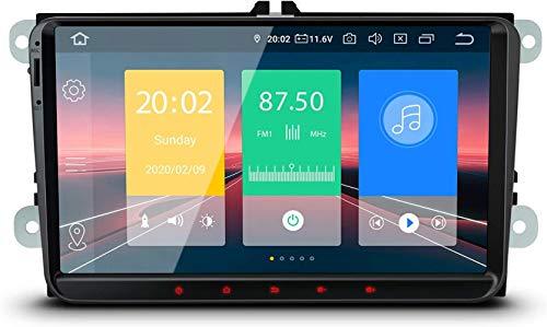 "BJYG 9""Android 10 Estéreo para automóvil Quad Core 2GB RAM 16GB ROM Radio para automóvil Navegación GPS Soporte Bluetooth 5.0 Plug and Play CarAutoPlay MirrorLink OBD2 Dab + WiFi DVR para VW Sko"