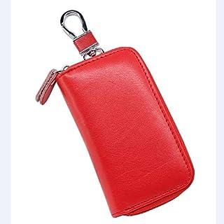 Key Case for Car - Car Styling Zipper Genuine Leather Man&Woman Fashion Car Key Case Bag Key Housekeeper Car Key Wallet Po...