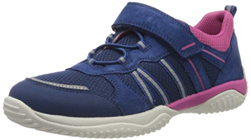 Superfit Mädchen STORM Sneaker, (Blau/Rosa 81), 36 EU