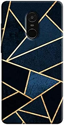 Cover It Up - Dark Blue Fractures Redmi Note 5 Hard Case