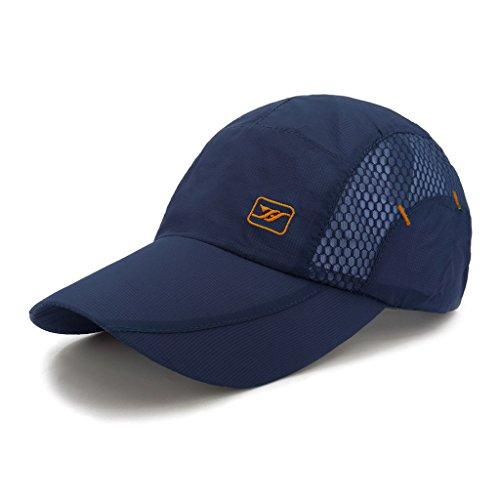 LETHMIK Quick Dry Sports Cap Unisex Sun Hat Summer UV Protection Outdoor Cap Navy Blue