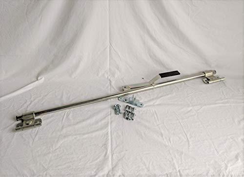 Kay 45' L Zinc Plated Steel Trailer Side Rear Ramp Door Cam Bar Latch Tamperproof w/Mount Hardware