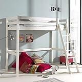 Alfred & Compagnie - Letto a soppalco, 90 x 200 cm, colore: Bianco