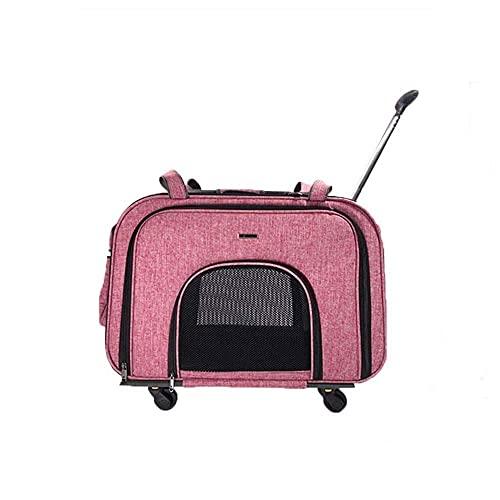 N/Z Equipo de Campamento Cochecito para Perros/Gatos/Mascotas Cochecito para Mascotas Multifunción Bolsas para Mascotas Portaequipajes de Viaje Maleta con Ruedas para Mascotas Transpirable (Aprobad
