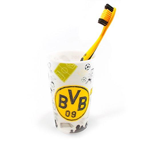 Borussia Dortmund Zahnpflege Set Zahnbürste & Zahnputzbecher BVB 09 - Plus gratis Aufkleber Forever Dortmund