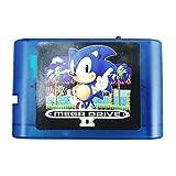 Cheng El Nuevo Mega Drive 2 Generation MD Game Cassette 1000 en 1 es Compatible con Las Consolas de Juegos de Mega Drive y apoya la Serie Everdrive (Color : Blue with 8g)