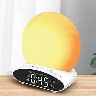 Taloyer New Wake-Up Light SunsetAlarm Clock Time Projector Desk Lamp Multifunctional FM Radio Alarm Clock