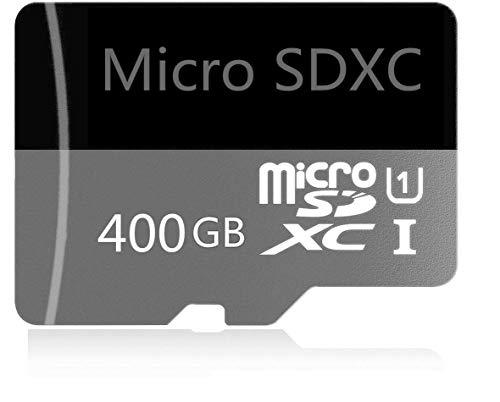Tarjeta Micro SD de 400GB de Alta Velocidad diseñada para teléfonos Inteligentes Android, tabletas Tarjeta de Memoria SDXC de Clase 10 con Adaptador (400gb-b)
