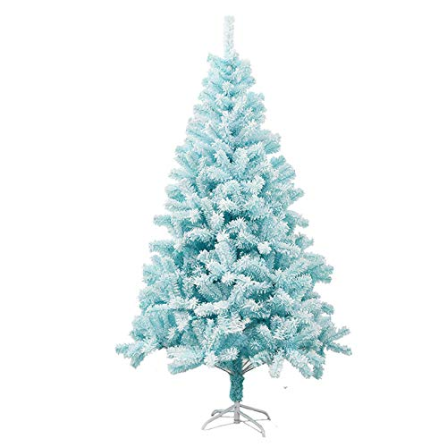 TopJiä Kids Without Decorations,metal Stand DIY Hinged,4FT Blue Artificial Christmas Tree Household,christmas Decoration Velvet PVC Mixed Material
