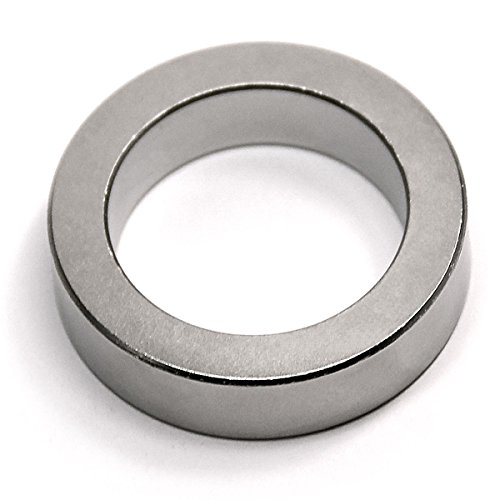 CMS Magnetics Super Strong Neodymium Magnets Ring N45 1-1/2'OD x 1.065'ID x 3/8' - Rare Earth Ring Magnet - Science Projects School and Magnetism Education