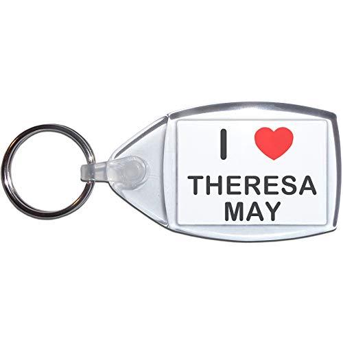 I Love Theresa May - Pequeño Llavero de plástico