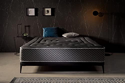 Moonia   Colchón Viscosoft 150X190 Premium Black Multizone   Máximo Confort   Altura +/- 27 cm   Ergonómico, Gran Transpirabilidad, Antiácaros   Firmeza Media-Alta   Todas Las Medidas