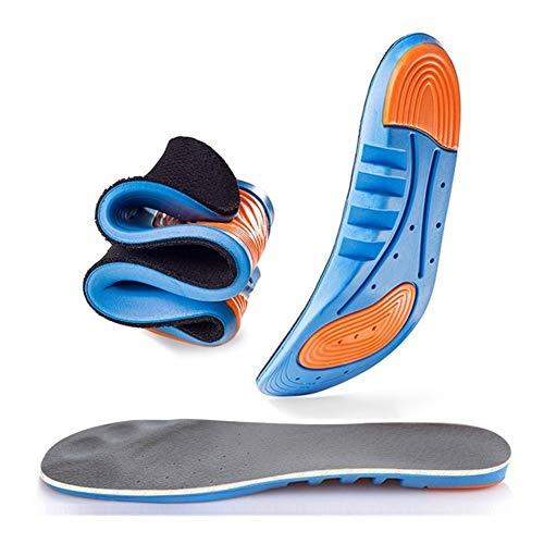 WDSFT Plantillas para Zapatos Desodorante Suela 1 Par Cojín Suave Plantillas de Zapatos Profesional del Cuidado de pie Inserta Luz de Zapatos ortopédicos Eva Plantilla (Color : 41-46)