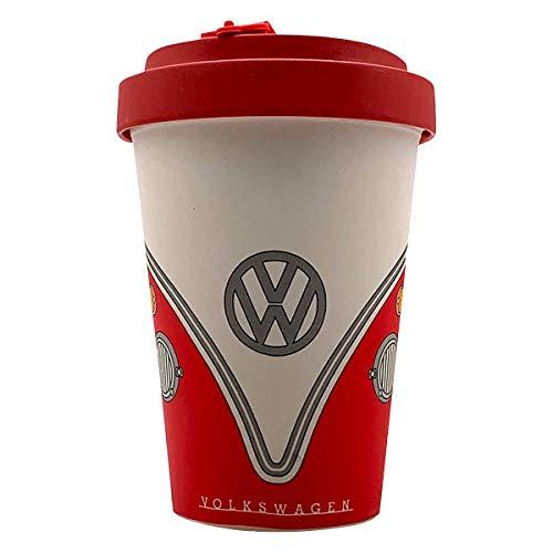 VW Official Lincened Camper Bambbo Tazza da viaggio (Red Crew)