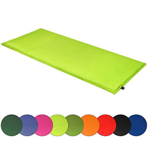 ALPIDEX Isomatte Selfinflating Matte Selbstaufblasende Outdoor Thermomatte in Verschiedene Größen und Farben, Farbe:Lime, Maße:200 x 66 x 6.0 cm