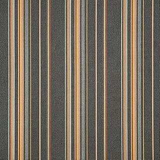 Sunbrella Indoor / Outdoor Upholstery Fabric By the Yard ~ Stanton Greystone ~ Orange Gray Brown Stripe