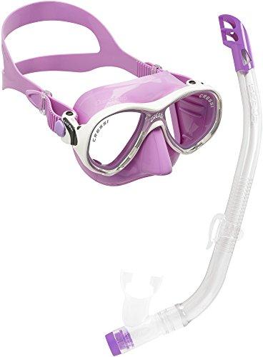 Cressi Set Marea VIP Jr Pack de Snorkel de, niños, Morado, 7-13 años