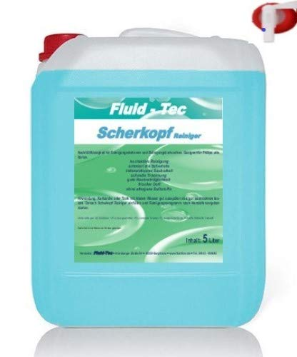 Fluid-Tec 5 Liter Scherkopfreiniger Nachfüllflüssigkeit kompatibel mit Philips Elektro Rasierer für Reinigungskartusche Reinigungsstation Serie 5000 7000 8000 9000 Jet clean Smart Clean + Auslaufhahn