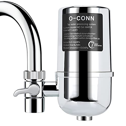 O-CONN Faucet Water Filter, Reduces Lead, Fluoride &...