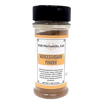 Worcestershire Sauce Powder 4oz Gluten Free for Steaks Dips BBQ Sauce Soup Chili