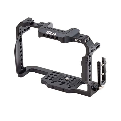 Nitze TP-5D4 - Jaula de cámara compatible con cámara Canon 5D4 con abrazadera de cable HDMI