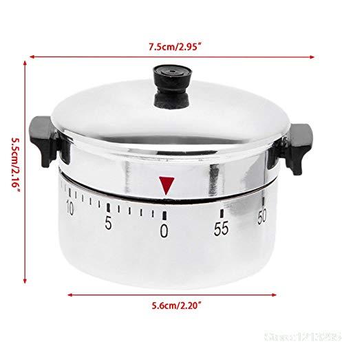 VEADK Küchentimer Nette Neue Kreative Timer Edelstahl Maschine Timer 60 Min Wecker Küche Timer Stoppuhr Küche Set Zeit Erinnerung
