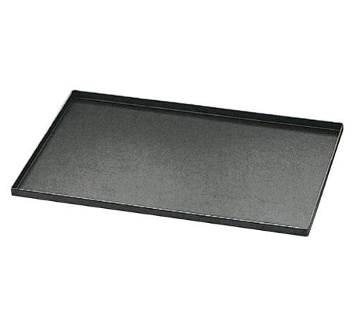 Matfer Bourgeat 455001 Plaque de cuisson en acier bleu avec bords droits, carbone, noir