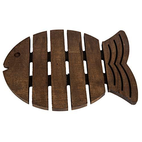 Antideslizante Resistente al calor Salvamanteles de madera en forma de