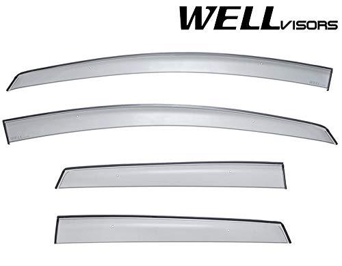 WellVisors Window Visors Wind Deflectors For Nissan Versa Note Hatchback 14-19 Premium Series Rain Guards