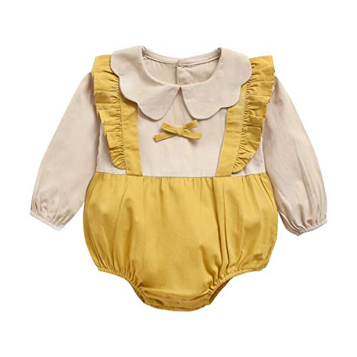 UMore Bebé Niños Niñas Body Mono de Manga Larga Mameluco Algodón Peleles Pijama Regalo de Recien Nacido, 0-24 Meses