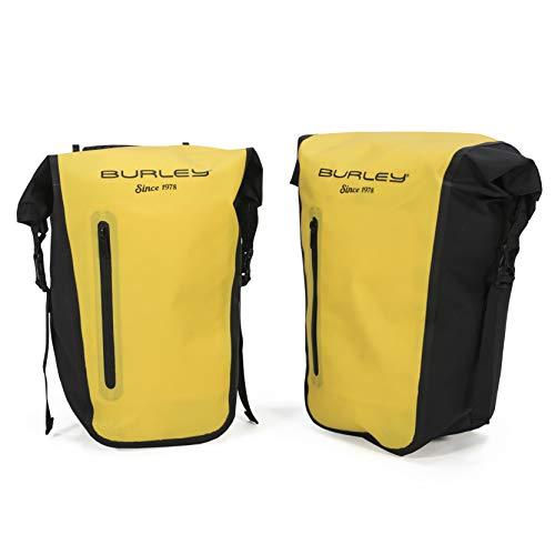 Burley Design Pannier Set, Roll-Top, Waterproof, 22L Total Capacity, 10mm Rack Bar Compatible , Yellow