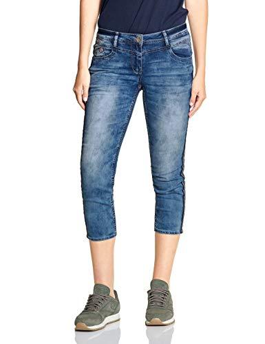 Cecil Damen 372302 Slim Jeans, Authentic Used wash mid Blue, W33 (Herstellergröße:33)