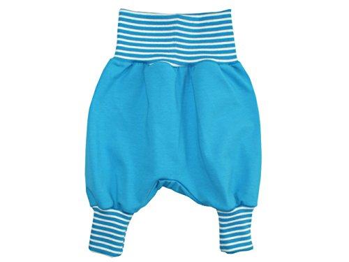 Kleine Könige Pumphose Baby Mädchen Jungen Hose · Modell Uni Türkis · Ökotex 100 Zertifiziert · Größen 86/92