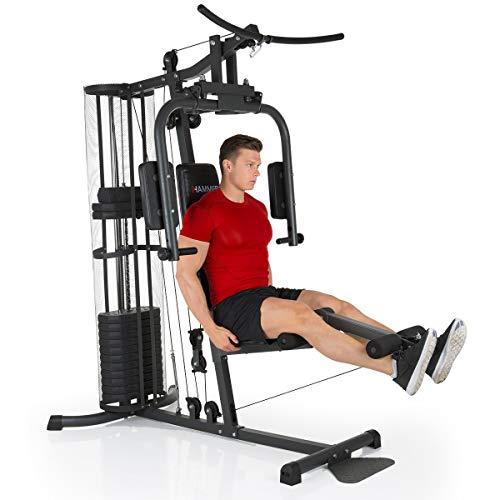 HAMMER Premium Kraftstation - Über 30 Übungsmöglichkeiten für Schulter, Brust, Rücken, Beine, Bauch, Arme