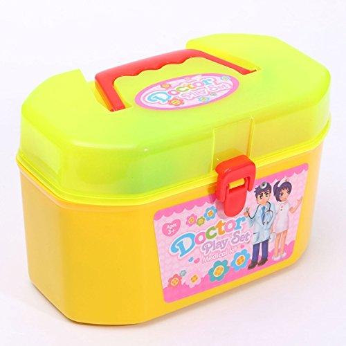 BAZAAR 30pcs Enfant Docteur Infirmière Jeu à roulettes Baby Installation Kit pédagogique jouet jeu