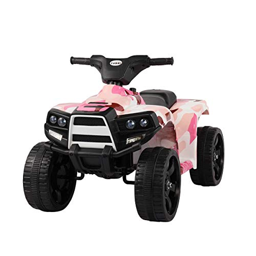 TOBBI Ride on ATV Four Wheeler for Kids 3-6, Electric 4 Wheeler ATV Quad Ride On Car Toy with LED Headlights,Horn, Speed Indicator, Camouflage Pattern