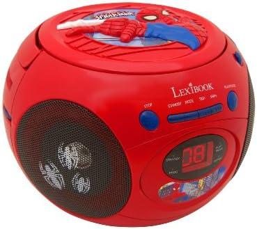 LEXIBOOK Boombox de ijskoenigin Disney Frozen Toploading Spider-Man rood