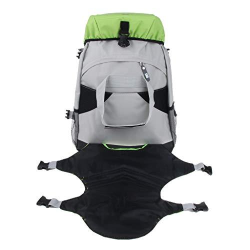 perfk Rollschuh -Rucksack für Inline-Skates oder Schlittschuhe - Grün