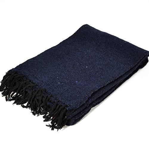 モリーナインディアンブランケット (Molina Indian Blanket) Solid Blanket/無地メキシカンブランケット[198×124cm]NAVY