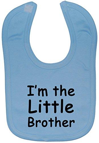 Acce Products i'm The Little Brother Bavoir pour bébé Fixation Velcro 0 à Environ 3 ans - Bleu - Taille unique