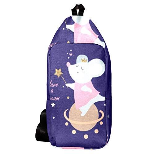 EZIOLY Sac à dos à bandoulière Magic Mouse Sac à bandoulière Voyage Randonnée Sac à dos pour homme et femme