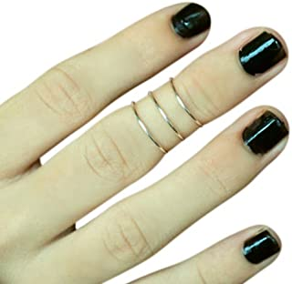California Toe Rings Women's Sterling Silver 1Mm Wire Above The Knuckle Adjustable Midi Toe Rings