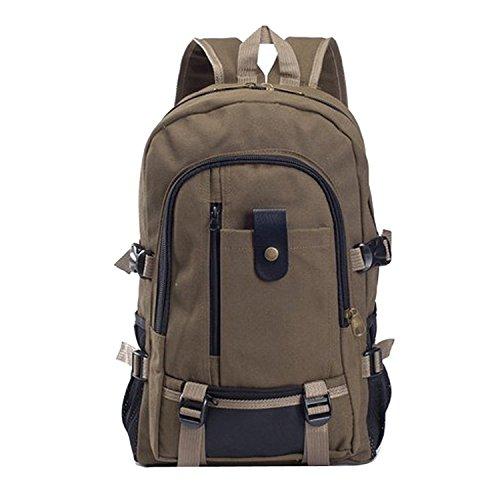 Fletion - Maglia spessa tela di cotone zaino da viaggio zaino casual Leisure sport, escursionismo, campeggio,Taglia unica