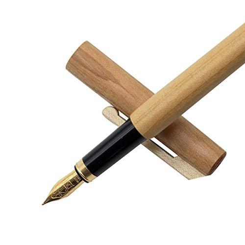 Personalisierter Füller/Füllfeder/Füllfederhalter mit Tintenkonverter aus geöltem Kirschholz - Federstärke M - nachhaltige Handarbeit aus Deutschland